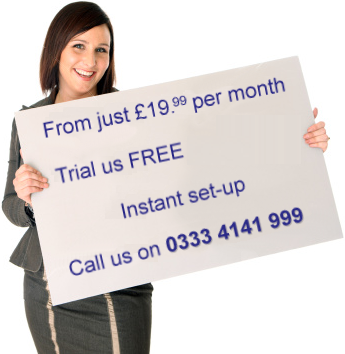 Sally showing off free trial